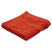 Tesco Hygro 100% Cotton Face Cloth, Orange