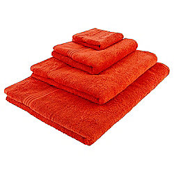 Orange Hygro 100% Cotton Face Cloth