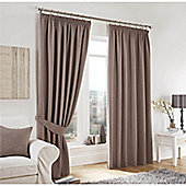 Curtina Lincoln Taupe 46x90 inches (116x228cm) 3 Pencil Pleat Curtains