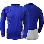 Ziland Team Football Shirt Long Sleeve - Blue & White