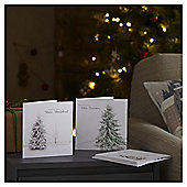 Photographic Snowy Tree Christmas Cards, 10 pack