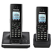 Panasonic KX-TG8562EB Twin Cordless Phone - Black