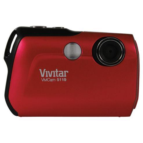 Vivatar V5119 Digital Camera, Red, 5.1MP, 4x Digital Zoom, 1.8
