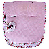 Minene Pushchair Liner, Pink/White dots