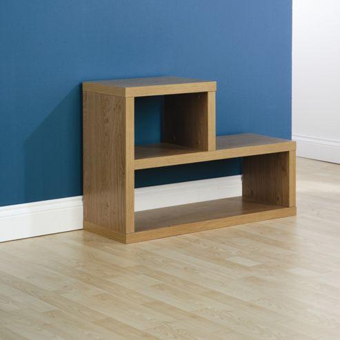 buy elements utah l shaped multi side table shelf unit. Black Bedroom Furniture Sets. Home Design Ideas