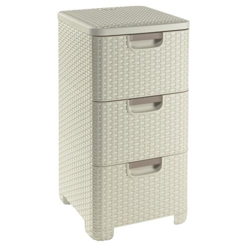Buy curver my style 3 drawer storage unit cream from our - Tour rangement plastique pas cher ...