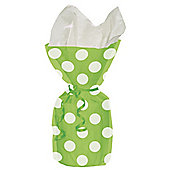 Green Polka Dots Cellophane Party Bags