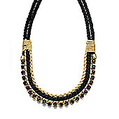 Fiorelli Gold and Black Rope Necklace