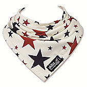 Skibz Bandana Dribble Bib - Red and Blue Stars