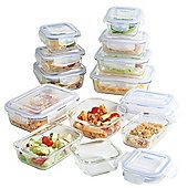 VonShef 12 Piece Glass Container Food Storage Set