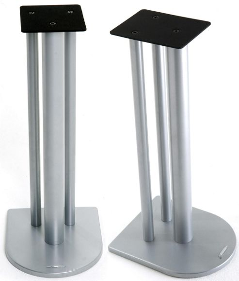 Atacama Nexus Speaker Stands in Silver - 700m