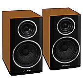 WHARFEDALE DIAMOND 122 BOOKSHELF SPEAKERS (CINNAMON CHERRY)