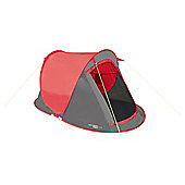 Yellowstone 2 Man Camping Fast Pitch Tent 2 Season Red