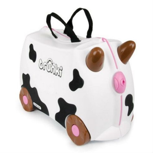 Frieda Trunki Ride-On Suitcase (Cow)
