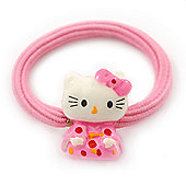 "Kids ""Little Kitty Kimono"" Pony Tail Hair Elastic/Bobble"