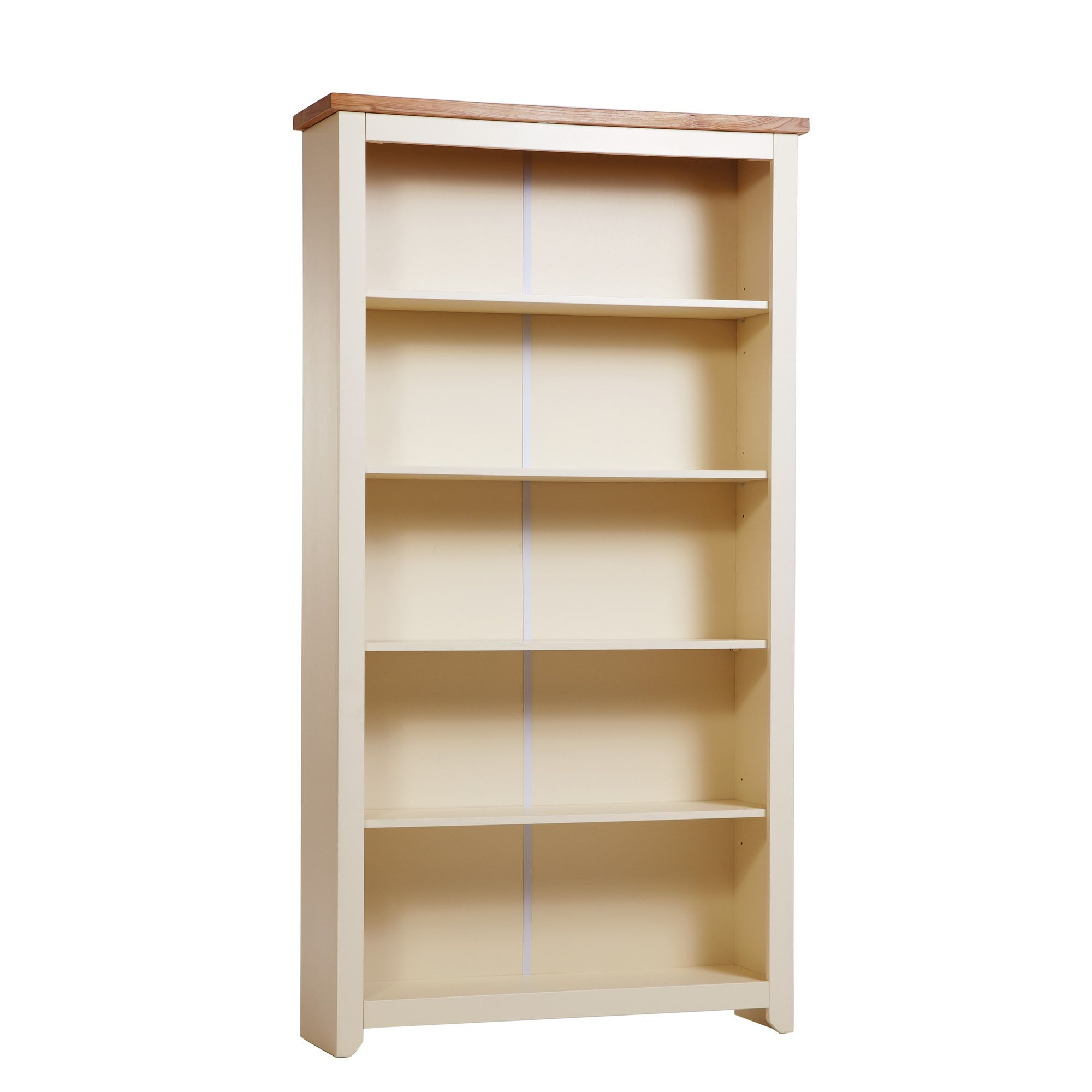Home Essence Jamestown 5 Shelf Bookcase in Old English White at Tesco Direct