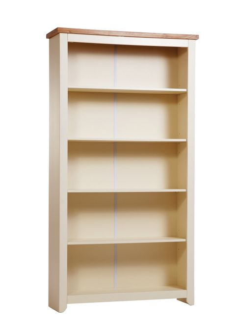 Home Essence Jamestown 5 Shelf Bookcase in Old English White