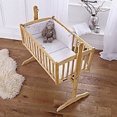 Clair De Lune Stardust Rocking Crib Bedding Set - White