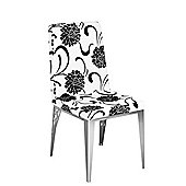 Premier Housewares Floral Dining Chair (Set of 2) - White / Black