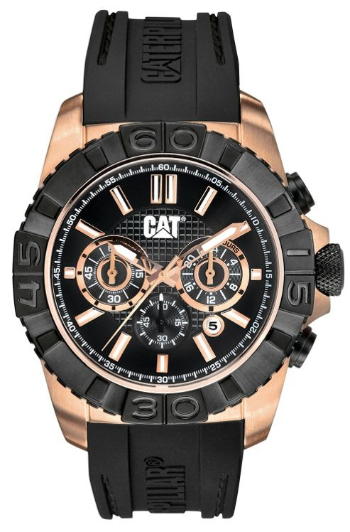 CAT Whistler Mens Rubber Chronograph, Date Watch A4.193.21.129