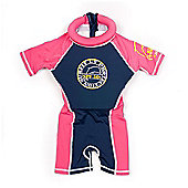 JakaBel Navy/Pink Swimsafe Floatsuit - Medium (3-4yrs)