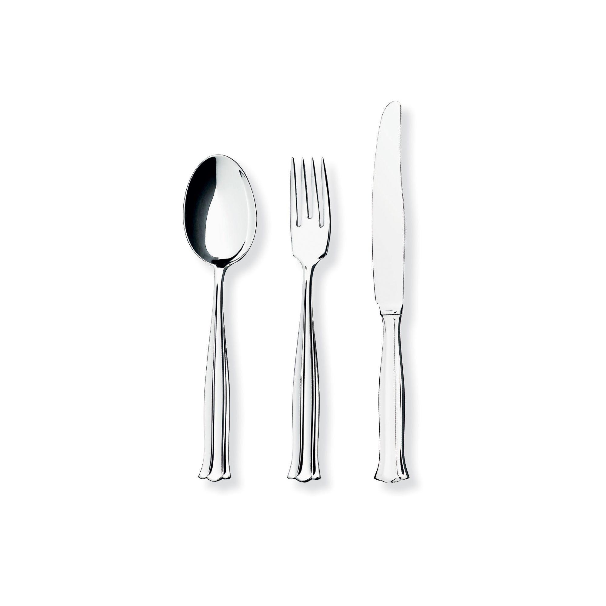 Mema/GAB Birgitta 12 Piece Silver Plated Cutlery Set 4 at Tesco Direct