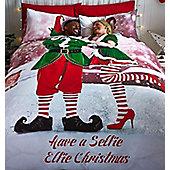 Selfie Elfie Double Duvet Christmas Bedding