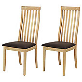 Oxford Pair Dining Chairs Natural