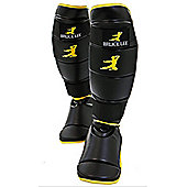Bruce Lee Signature MMA Shin Guards Synthetic Leather - Black