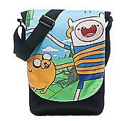 Adventure Time Finn And Jake Top Loader Messenger Bag, Black (mbowqdadv) - Accessories