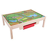 Bigjigs Rail BJT041 Train Table with Drawers