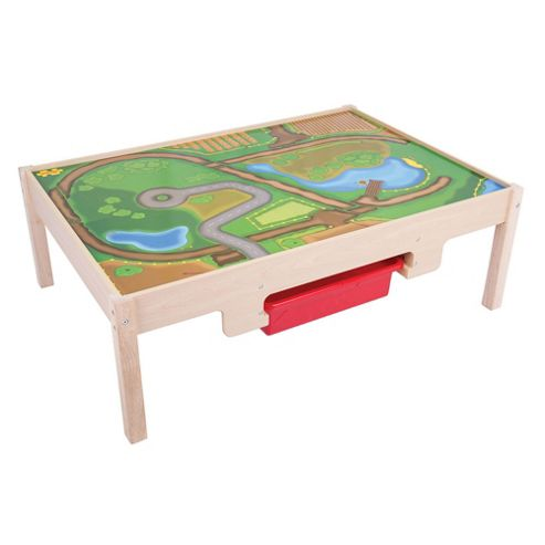 Bigjigs Rail Train Table with Drawers
