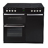 Belling DB490E Electric Range Cooker in Black (with Stainless Steel handles)