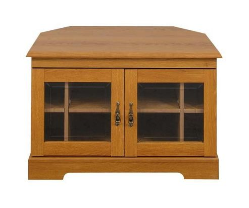Caxton Canterbury Wooden Corner Media Cabinet DVDs