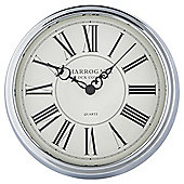 Tesco Chrome Deep Case Station Wall Clock Dia. 40cm