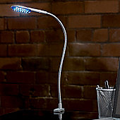 Endon Lighting Modern LED Gooseneck Reading Light in Silver