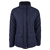 Cullin Womens Equestrian Horse Riding Country Quilted Jacket - Blue