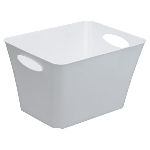 buy tesco 44l storage box with handles white from our. Black Bedroom Furniture Sets. Home Design Ideas