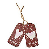 Set Of Two Wooden Christmas Gift Tags