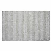 Homescapes Solid Striped Cotton Bath Mat White 50 x 80 cm