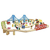 Carousel Super Train and City Set 100 Pieces