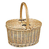 Wicker Valley Buff Oval Picnic Basket