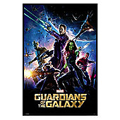 Gloss Black Framed Marvel Comics Guardians Of The Galaxy Poster