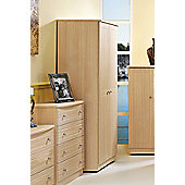 Welcome Furniture Warwick Plain Midi Wardrobe - Light Oak - 182.5cm H