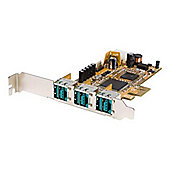3 Port PCI Express 12V PoweredUSB Adapter Card - USB PlusPower