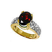 QP Jewellers Diamond & Garnet Renaissance Ring in 14K Gold