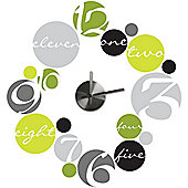 Circle Clock Wall Stickers