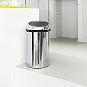 Brabantia 60-Litre Touch Bin with Soft-Touch Closure - Brilliant Steel / Brilliant Steel
