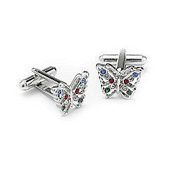 Swarovski Crystal Butterfly Cufflinks