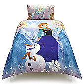 Disney Frozen Anna, Elsa and Olaf Single Duvet Set